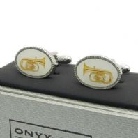 Tuba Cufflinks by Onyx-Art New Gift Boxed CK1088